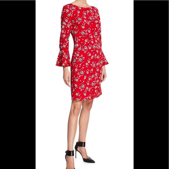 9ae76b5d79f Karl Lagerfeld Paris 3 4-Bell Sleeve Sheath Dress